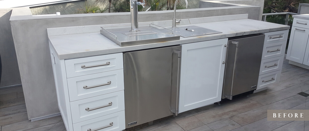 Manhattan Beach Kitchen Cover – Before (Charcoal Color)